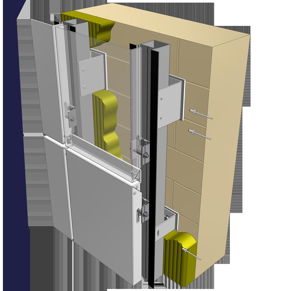 Reynobond Aluminum Composite Panels : Oggetto bim reynobond vertical cassette reynolux