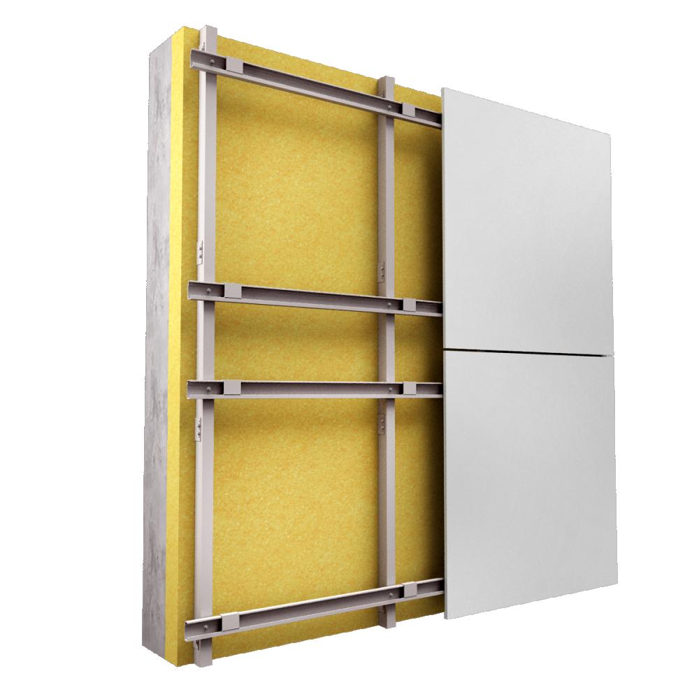 FClad® - Fehr Solution Panneau de bardage Fixations invisibles  3D View