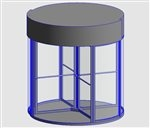 K41 Curtain Wall Panel  3D View