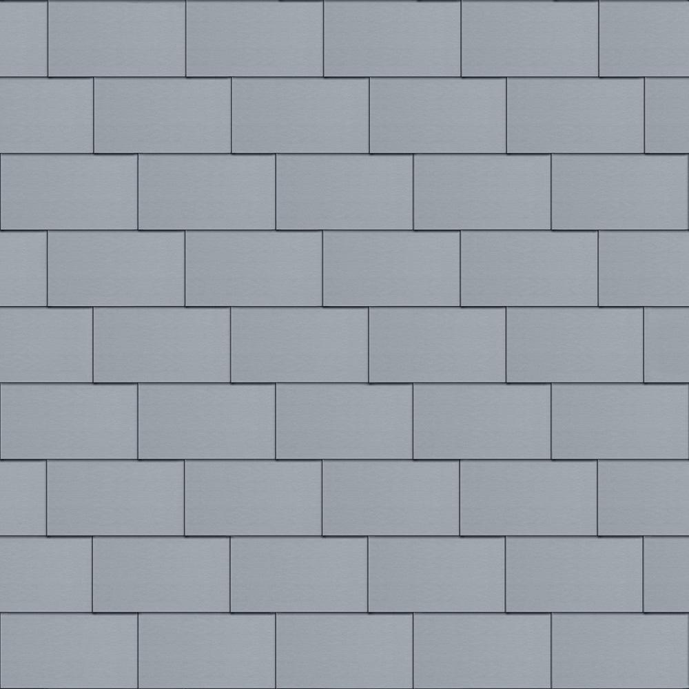 Flat-Lock Tile Roof (600 mm x 1500 mm, horizontal, prePATINA blue-grey)