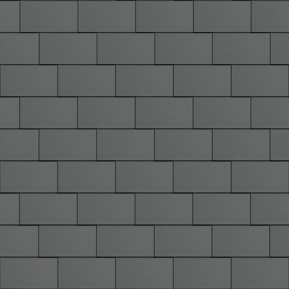 Flat-Lock Tile Roof (600 mm x 1500 mm, horizontal, prePATINA graphite-grey)