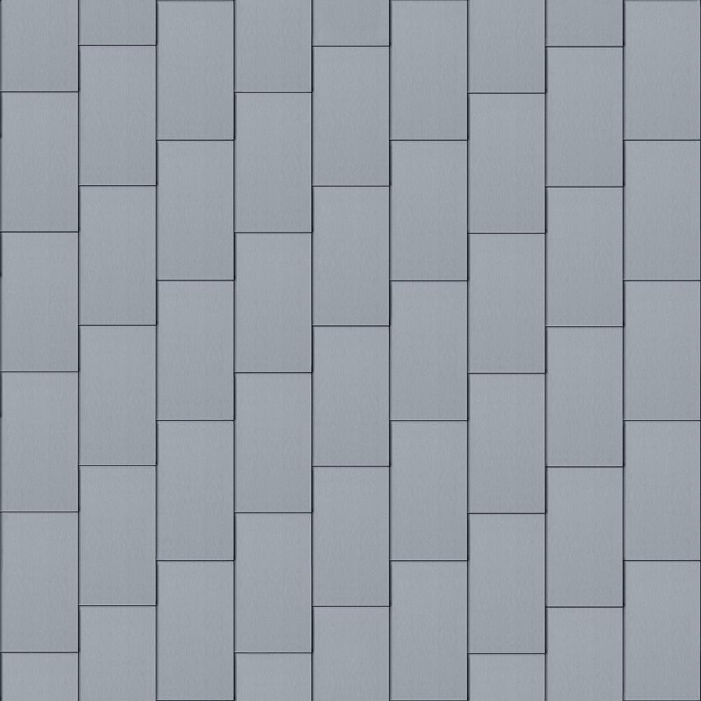 Großraute Dach (500 mm x 1000 mm, vertikal, prePATINA blaugrau)  3D View