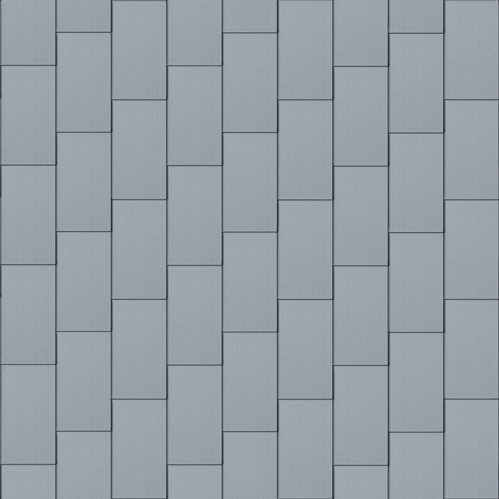 Flat-Lock Tile Roof (600 mm x 1500 mm, vertical, prePATINA blue-grey)