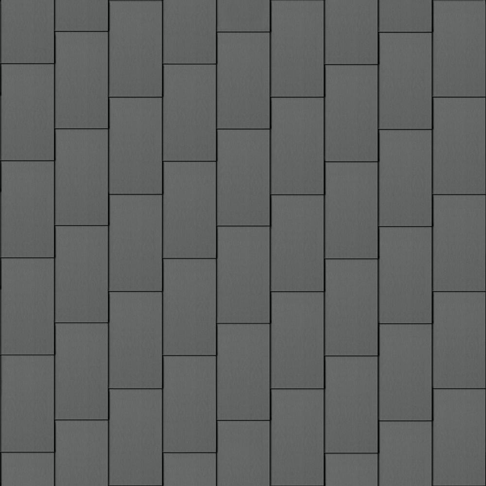 Flat-Lock Tile Roof (600 mm x 1500 mm, vertical, prePATINA graphite-grey)