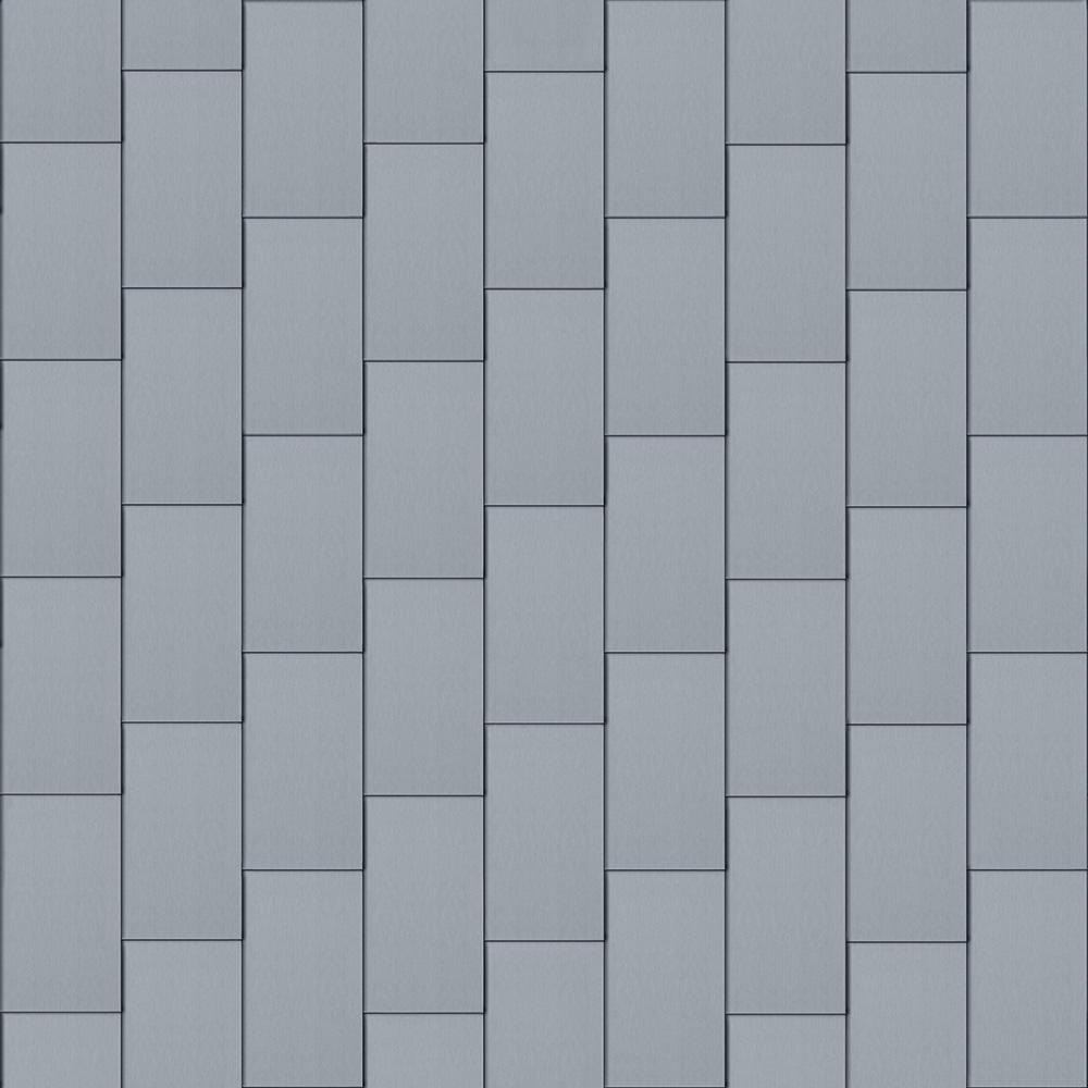 Flat-Lock Tile Facade (600 mm x 1500 mm, vertical, prePATINA blue-grey)