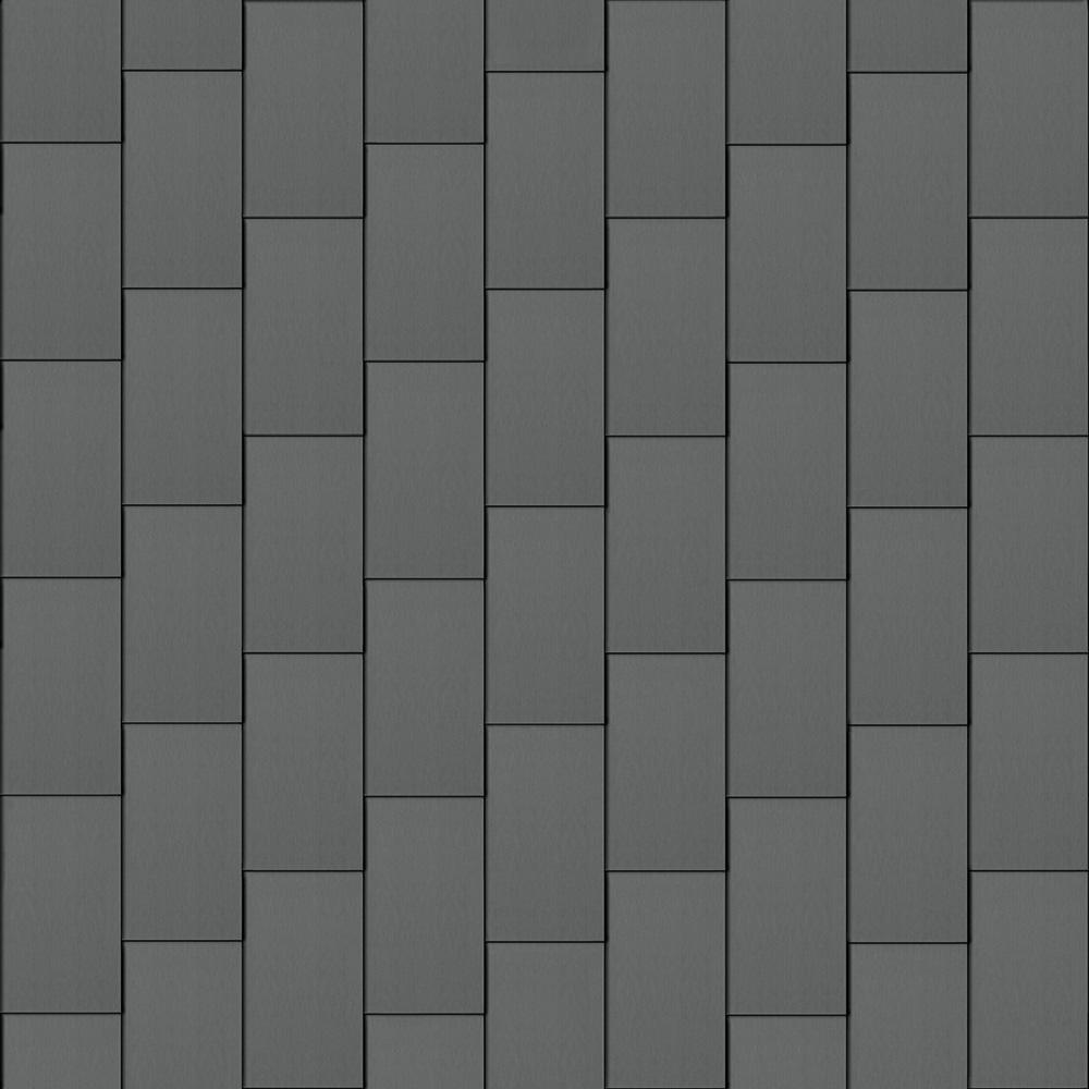 Flat-Lock Tile Facade (600 mm x 1500 mm, vertical, prePATINA graphite-grey)