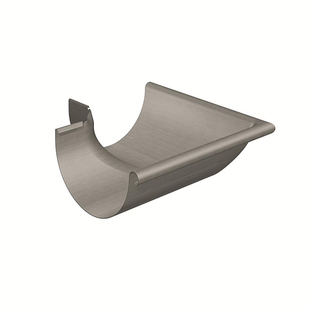 Gutter corner half-round (size 333, outside 90°, deep-drawn, prePATINA graphite-grey)