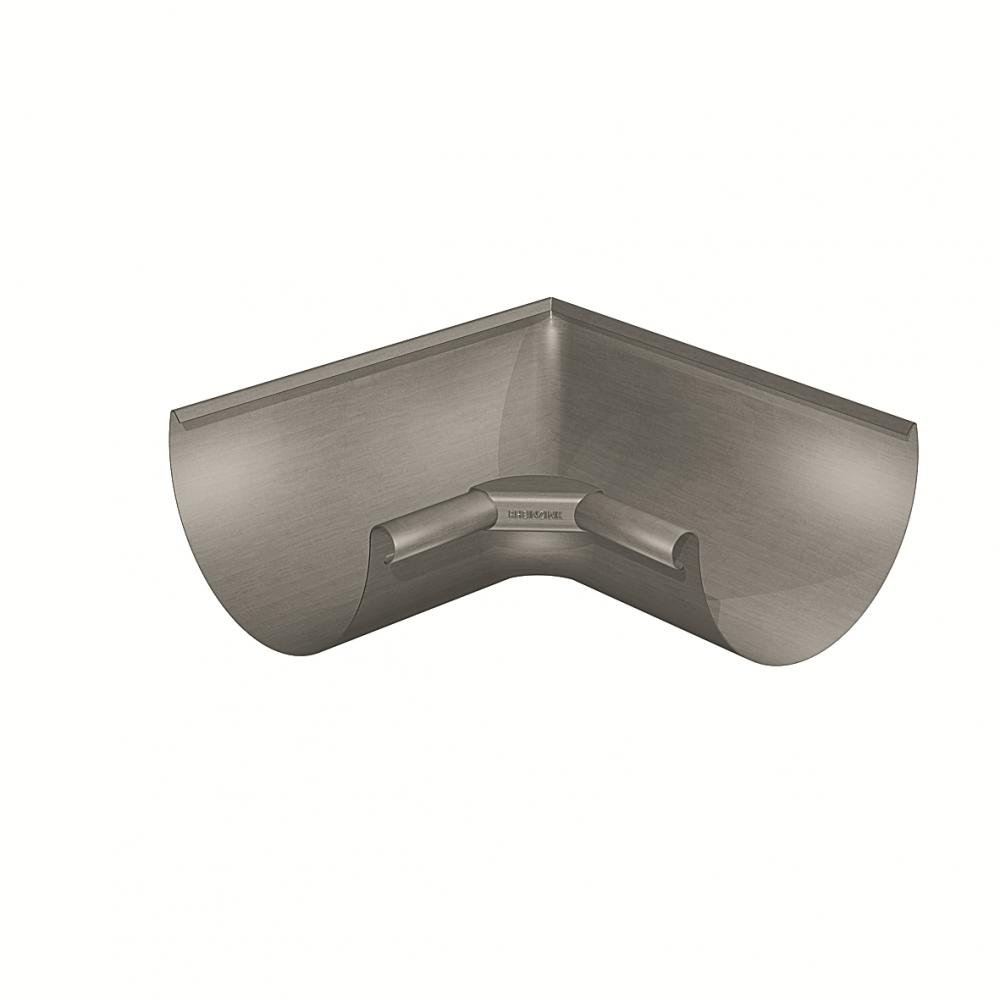 Gutter corner half-round (size 333, inside 90°, deep-drawn, prePATINA graphite-grey)