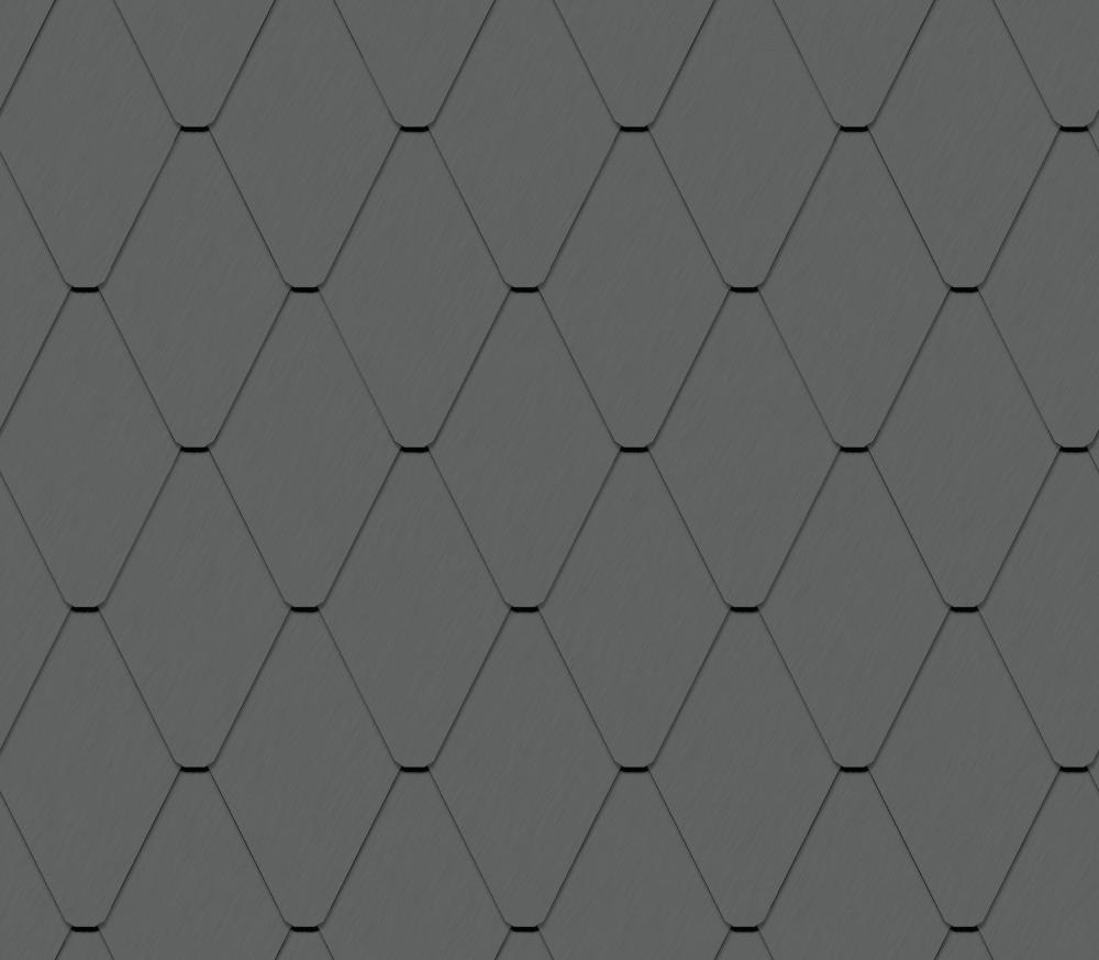Spitzraute Fassade (228 mm x 330 mm, prePATINA schiefergrau)  3D View