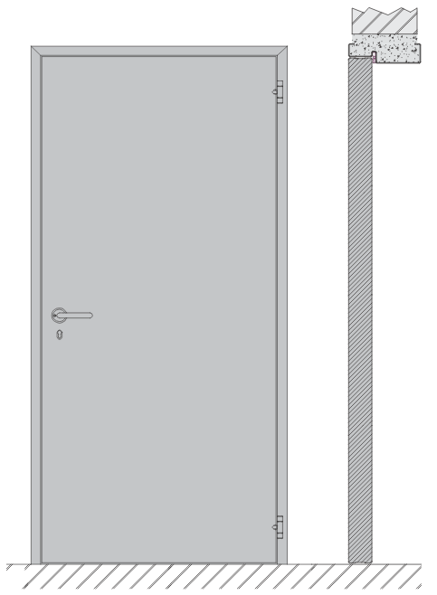 Single swing door EI1 120