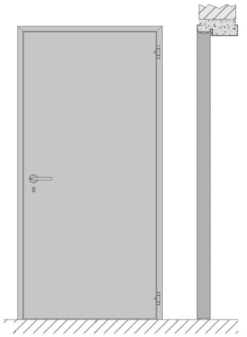 Single hung door CR4