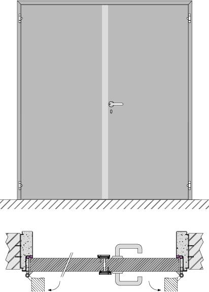 Double swing door EI1 30