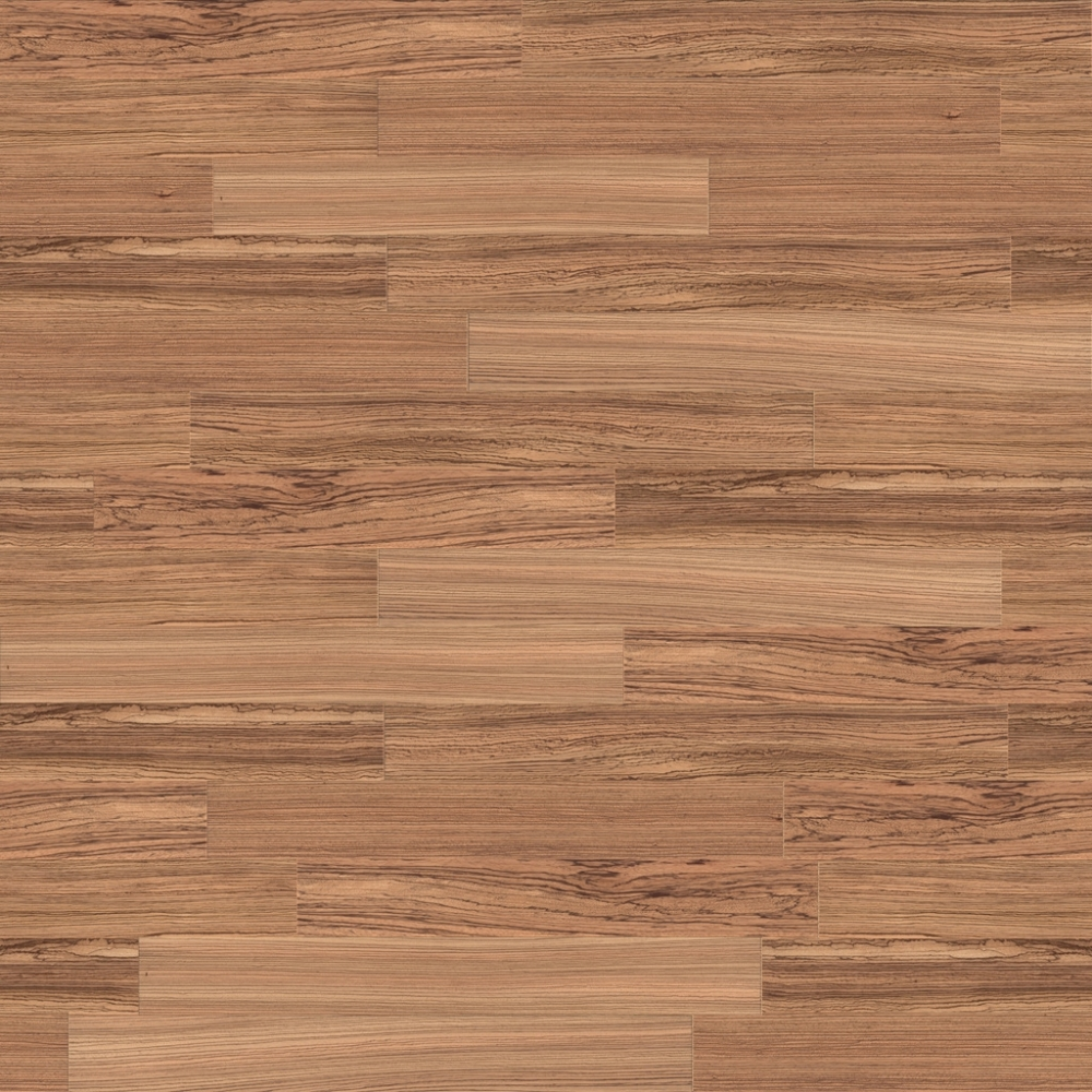 Zebrano wood flooring, ceiling and panelling  3D View