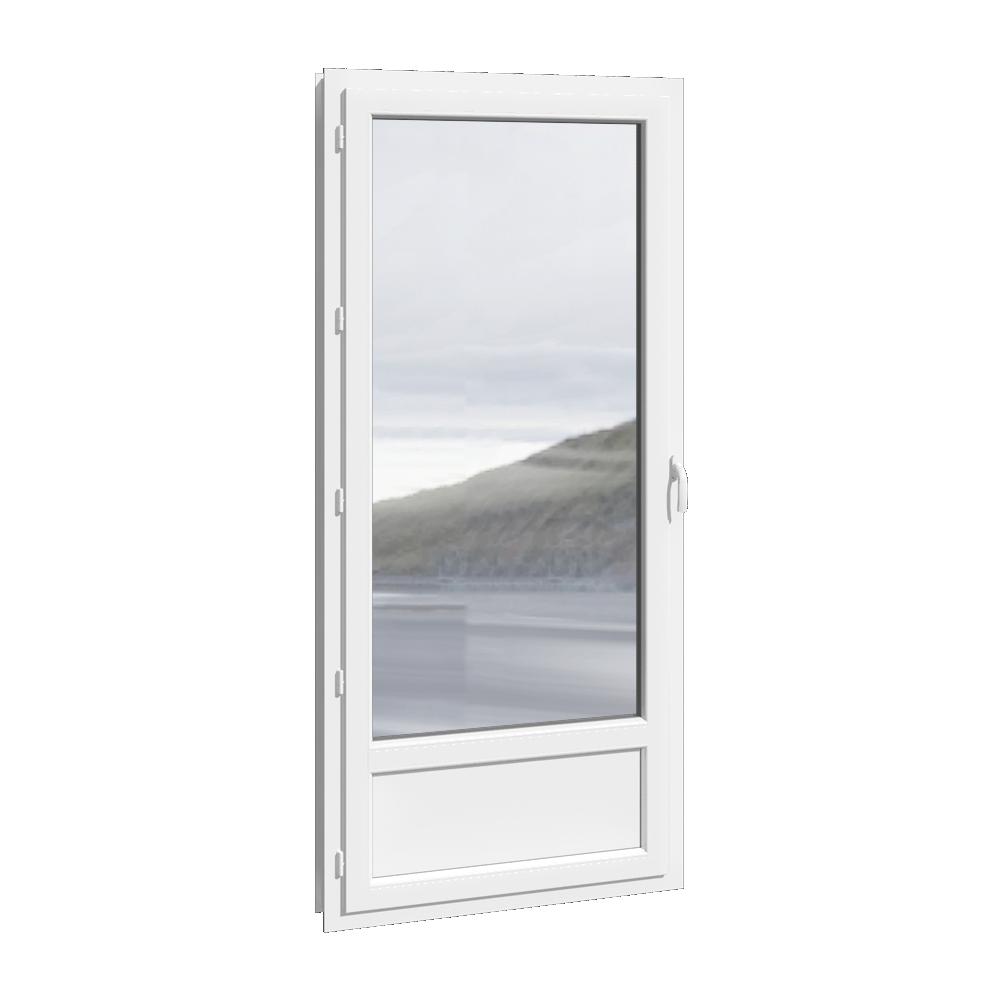 Bim Object Porte Fenêtre 1 Vantail Pvc Avec Ou Sans Soubassement