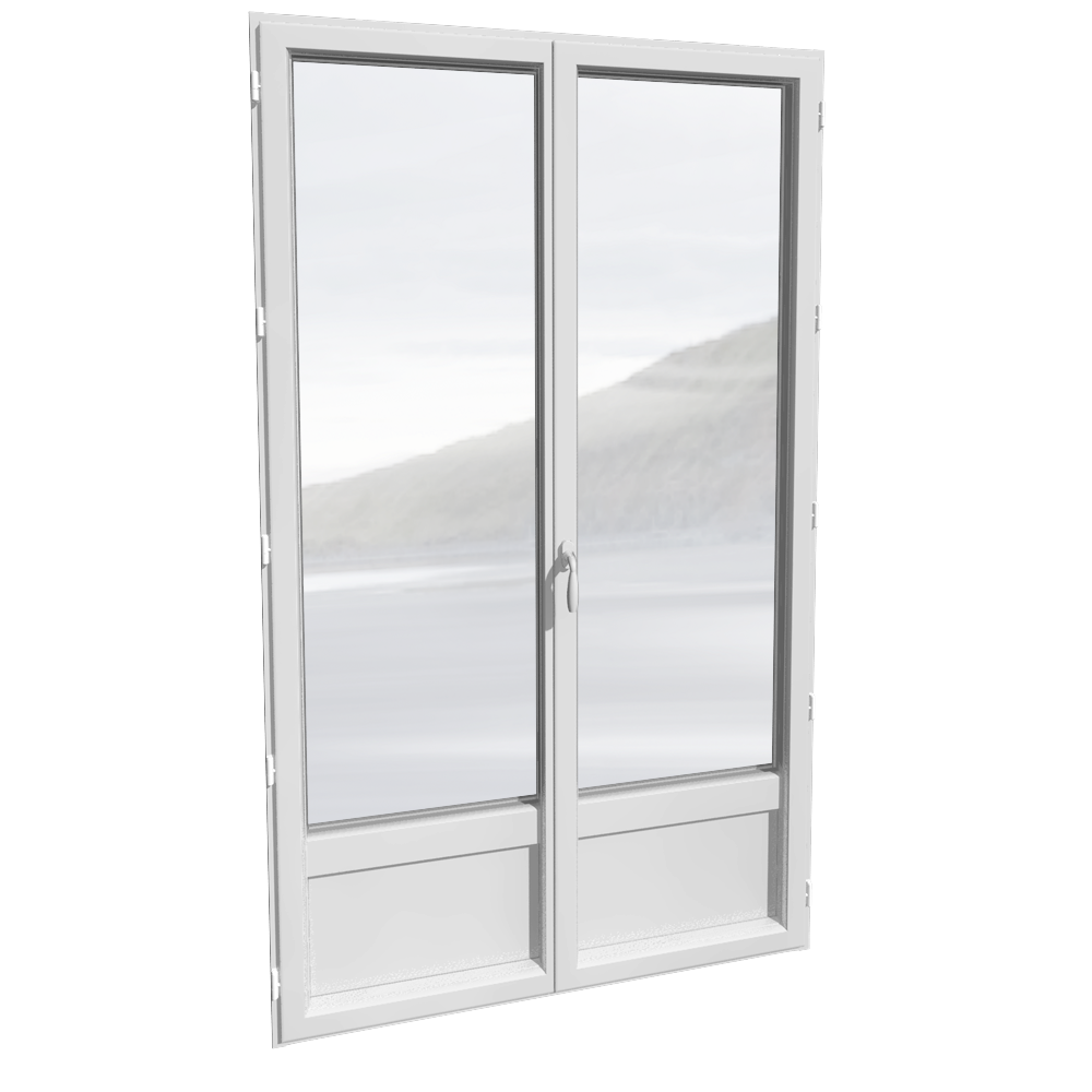 Bim Object Porte Fenêtre 2 Vantaux Alu Avec Ou Sans Soubassement