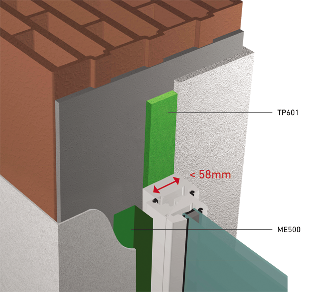 TUNNEL-RT2012 avec largeur profilé fenêtre < 58mm  3D View