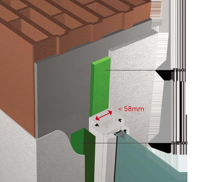 TUNNEL RT2012 avec largeur profile fenetre inférieur ou egale a 58mm  3D View