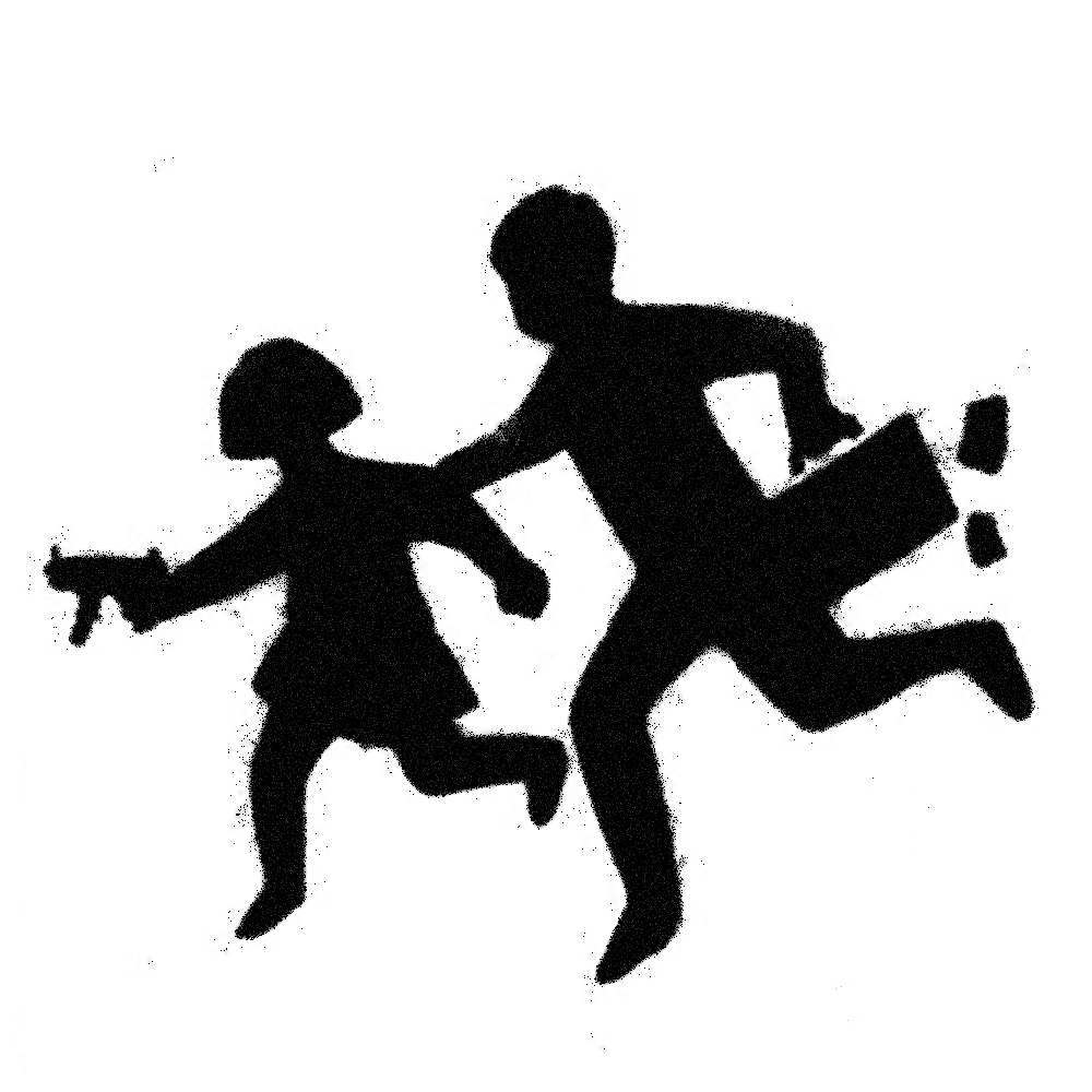 Banksy Armed children crossing  3D View