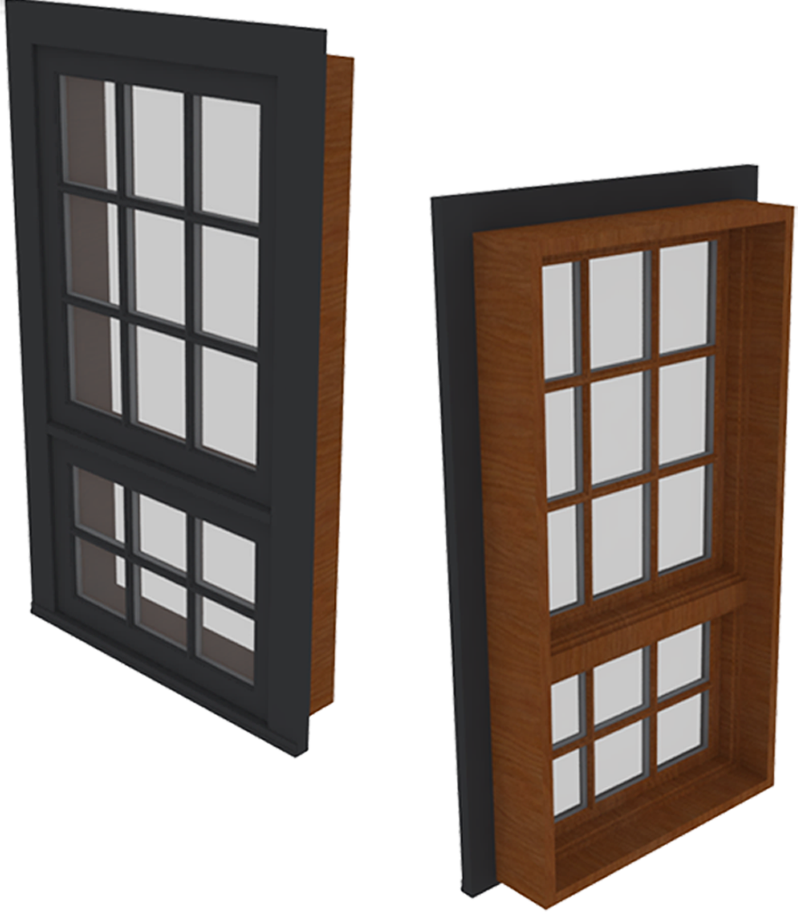 Cad and bim object ultra window push out awning for Window object