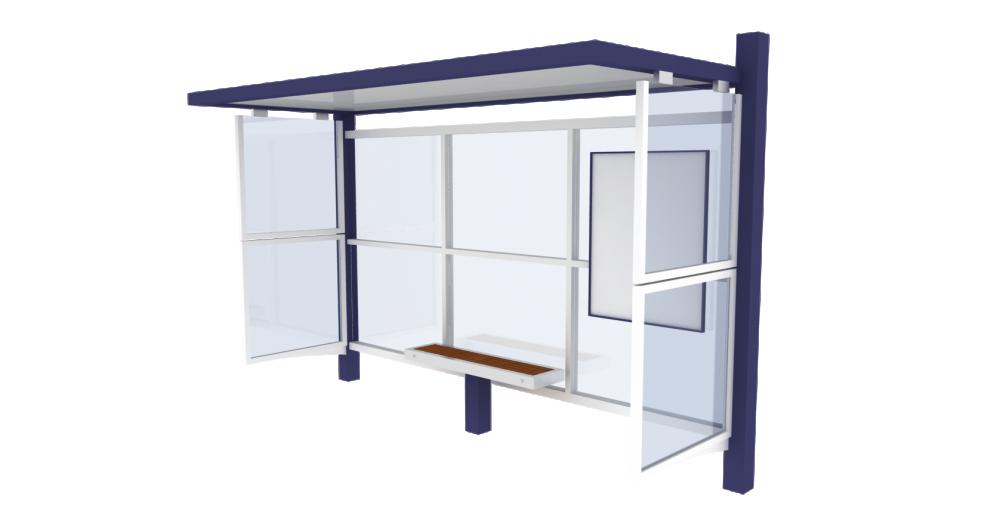 Bus shelter Cirrus Standard  3D View