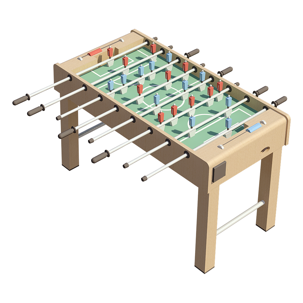 Table Football 1  3D View