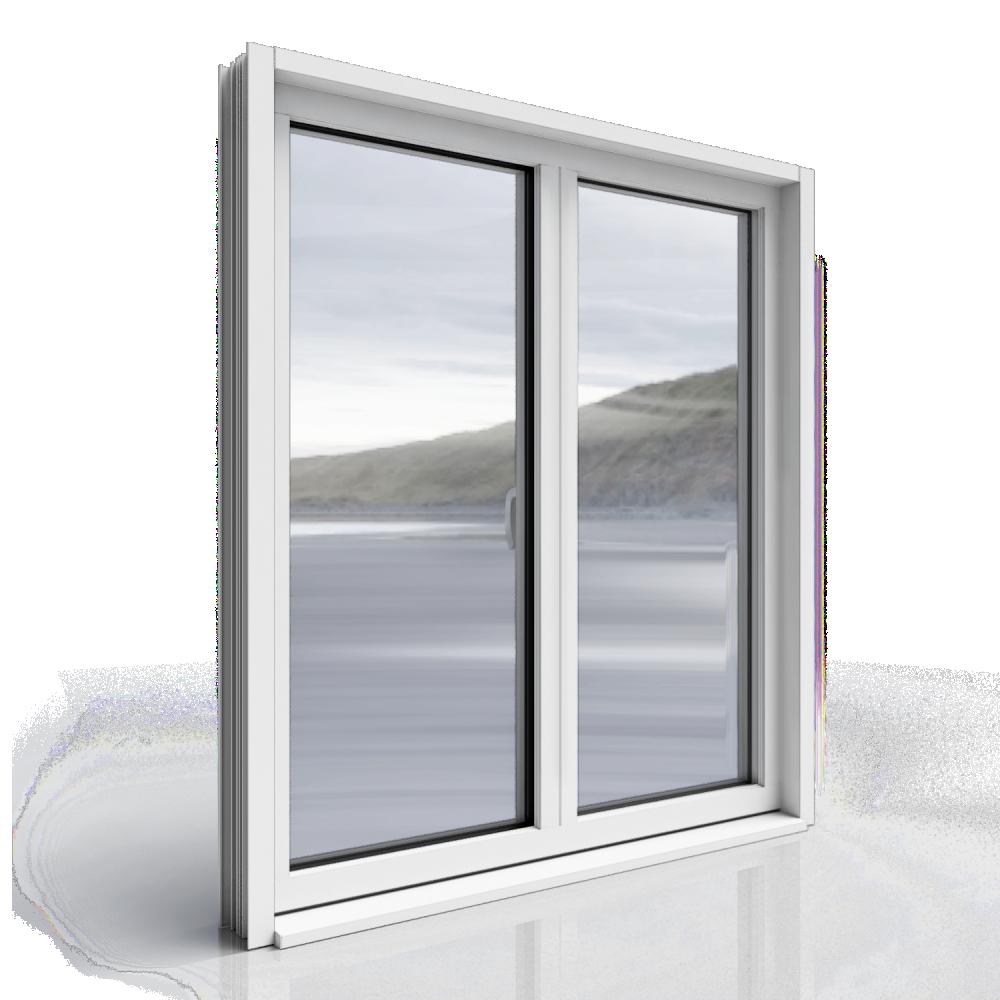 2 door leaf window