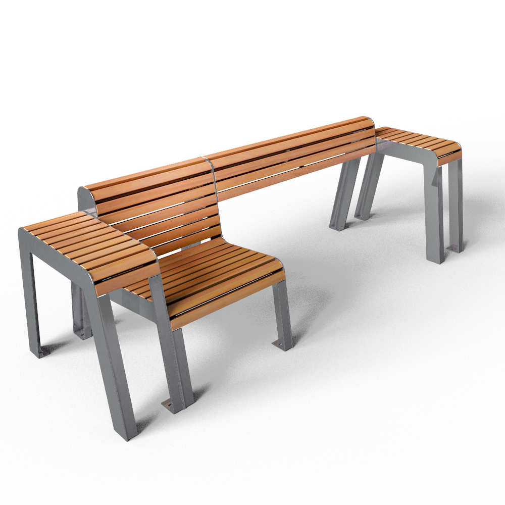 Ensemble mobilier urbain