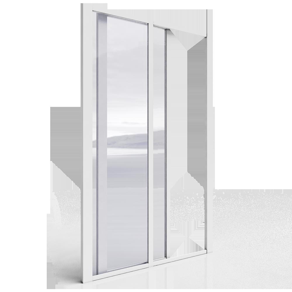 Porte coulissante grande largeur 2 elements