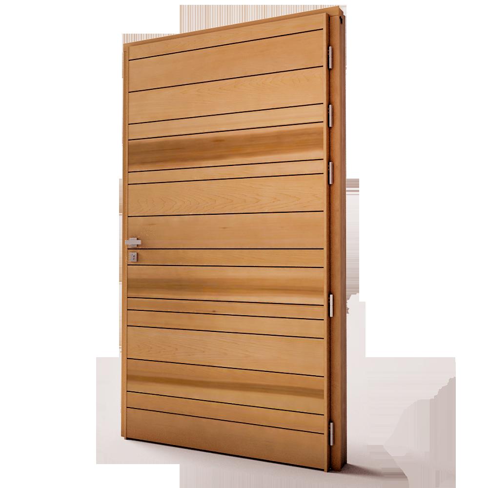 Porte entree bois