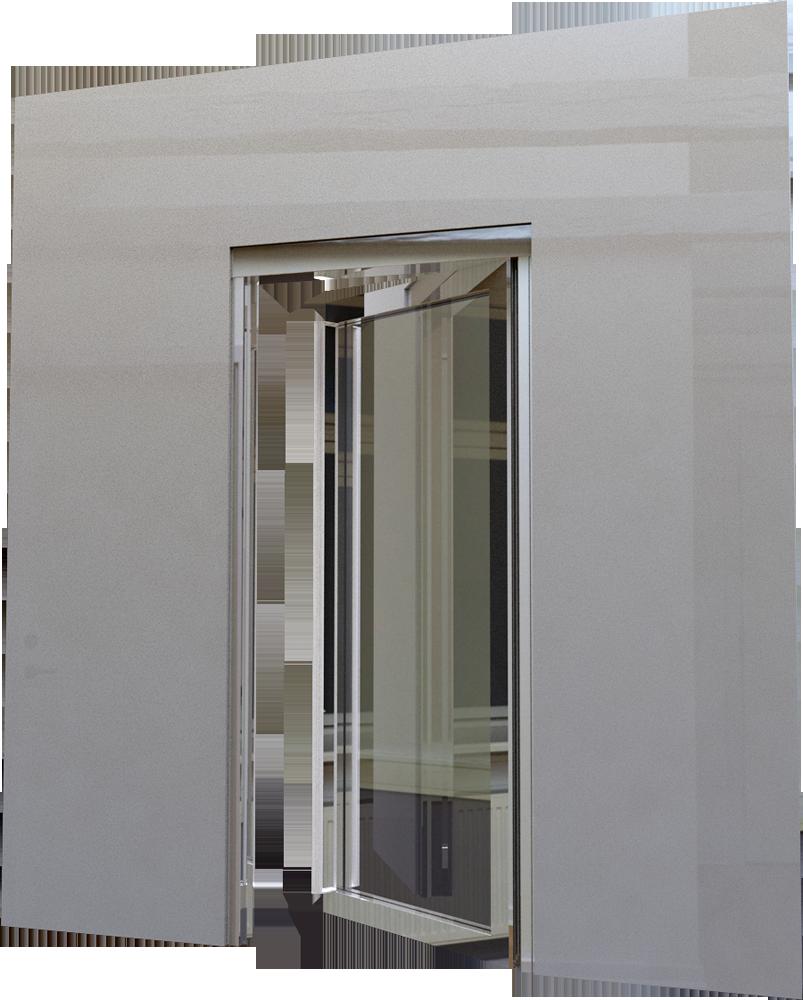 Porte vitree EI60 1 vantail Simple action ou va et vient