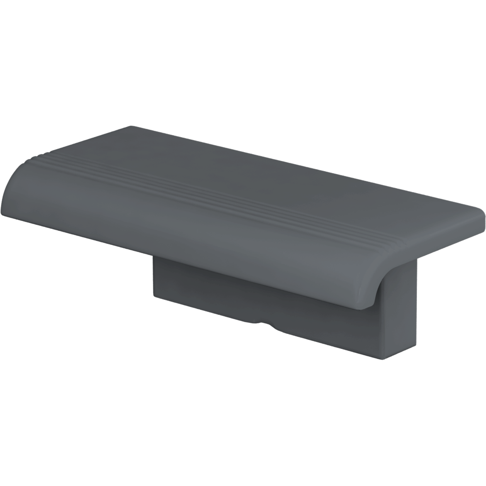 Shower shelf with wall-mounted support, Anthracite grey