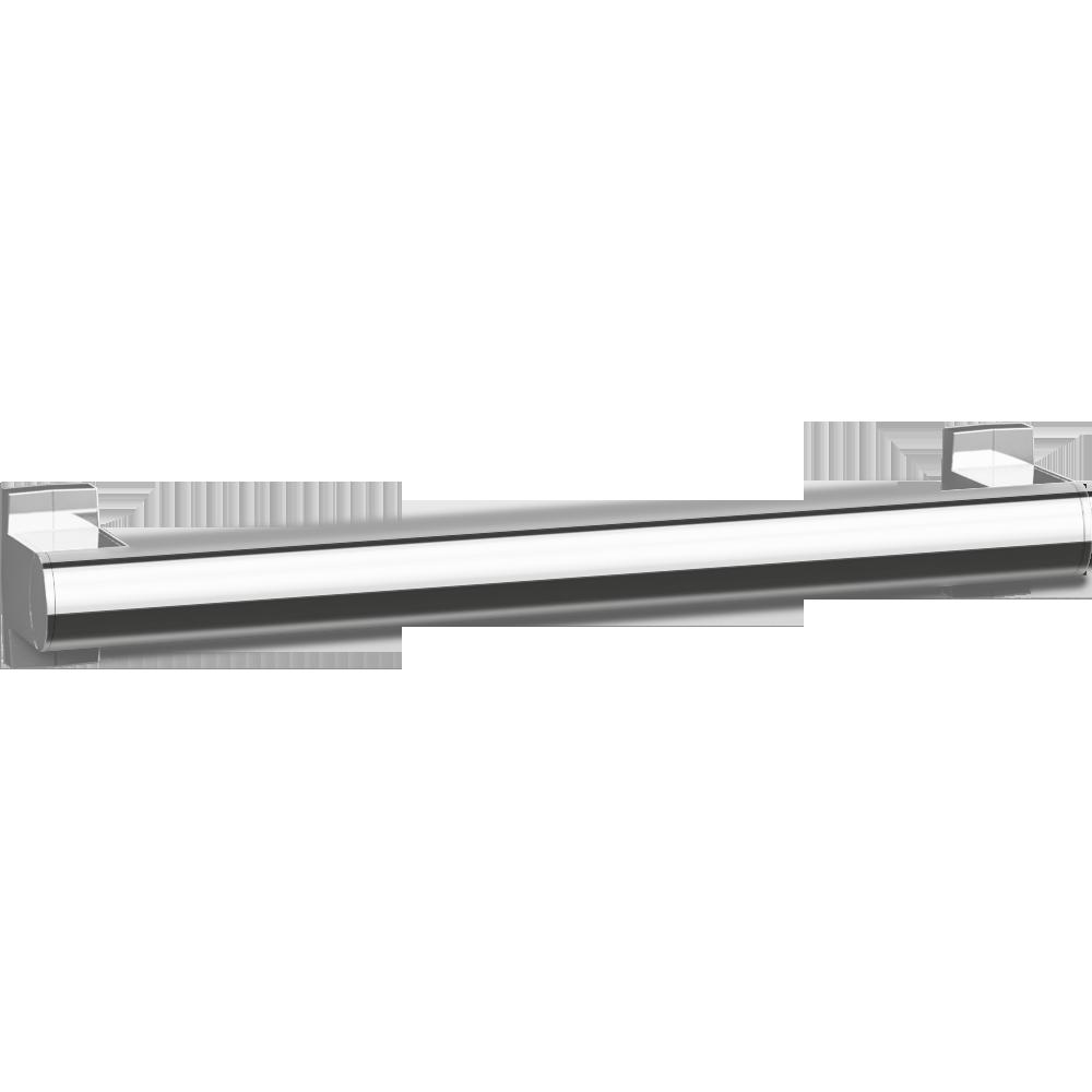Straight grab bar, 400 mm, Bright Anodized Aluminium