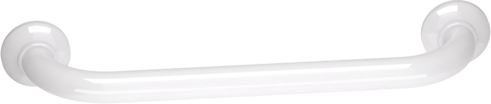 Straight grab bar, 400 mm, White Epoxy-coated Aluminium, tube Ø 30 mm 4