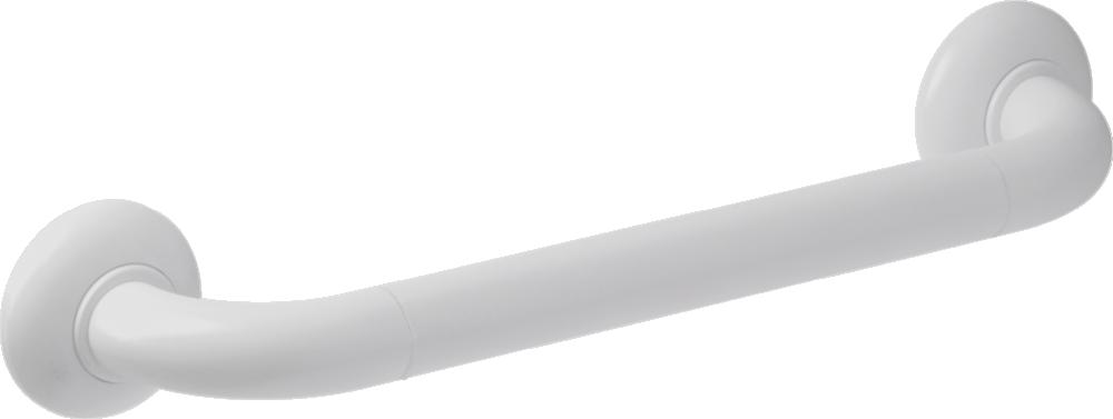 Straight grab bar, 400 mm, White Polyalu, tube Ø 33 mm