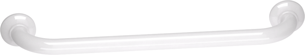 Straight grab bar, 500 mm, White Epoxy-coated Aluminium , tube Ø 30 mm 6