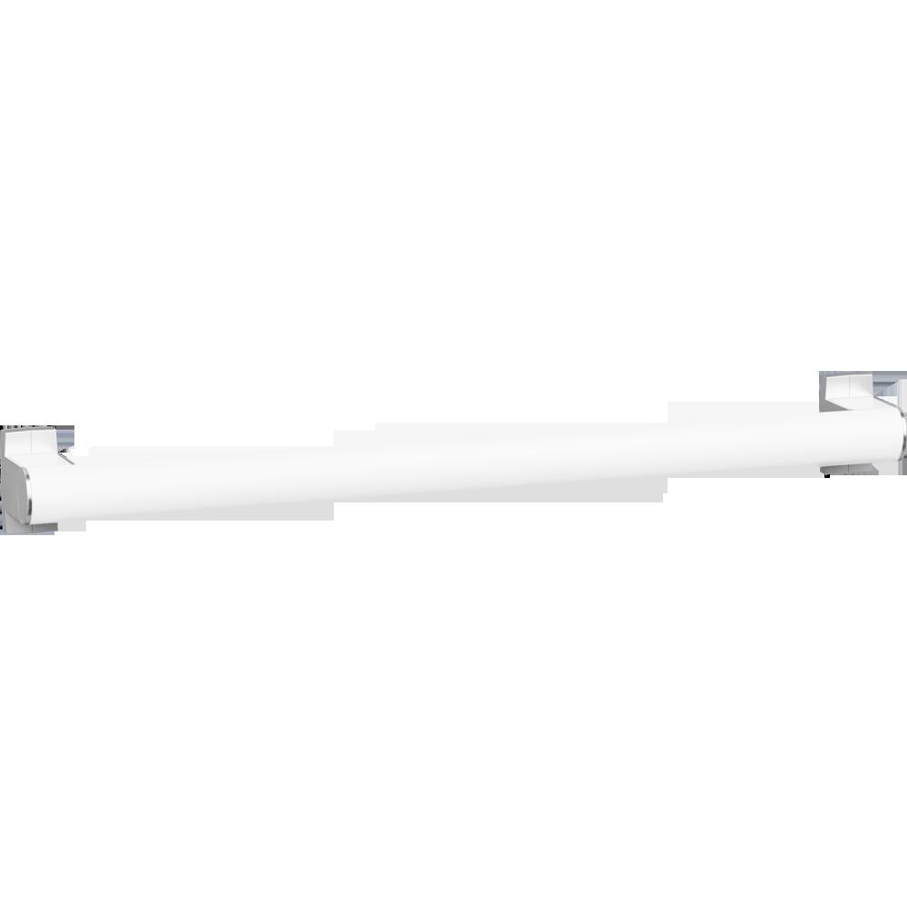 Straight grab bar, 600 mm, White Epoxy-coated Aluminium, mat chrome-plated flanges