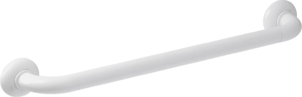 Straight grab bar, 600 mm, White Polyalu, tube Ø 33 mm