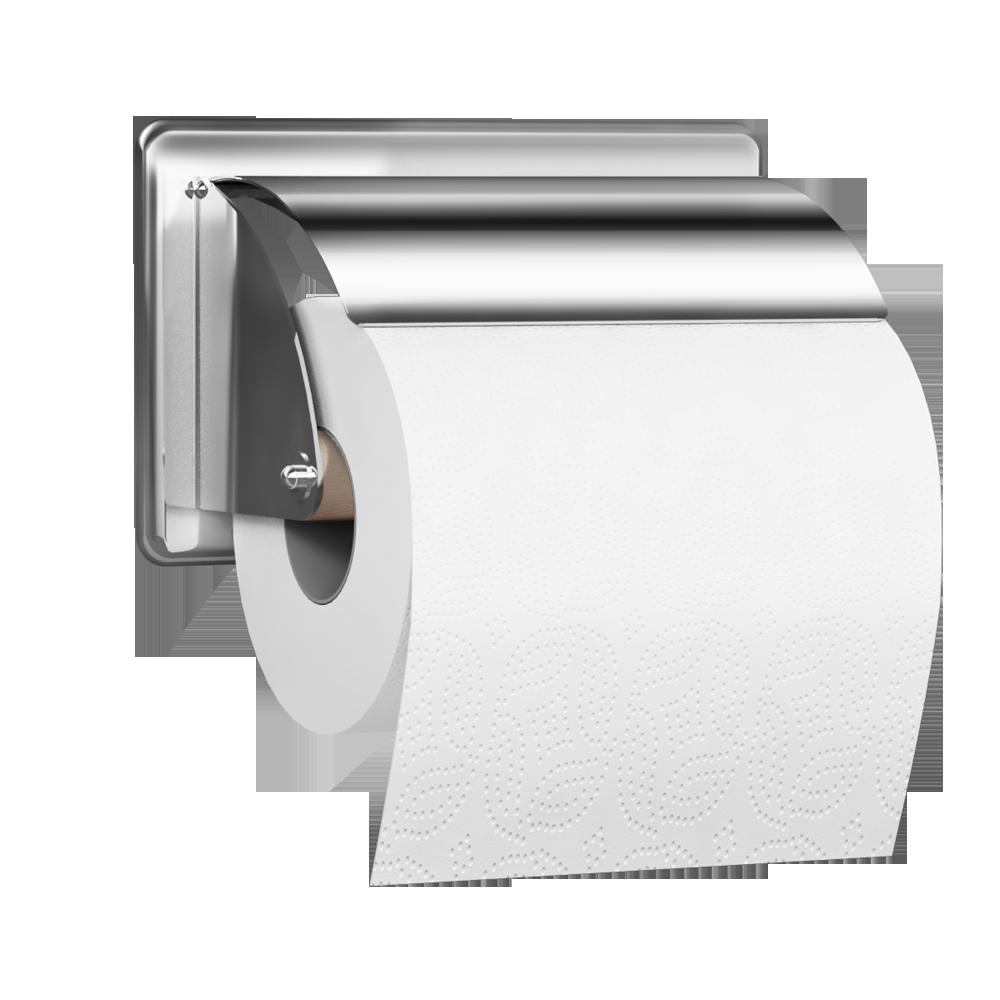 Dérouleur Papier Wc Metal bim object - toilet roll holder, 152 x 96 mm, chrome and