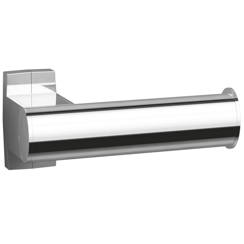 Toilet roll holder, 155 x 69 x 67,5 mm, Bright Anodized Aluminium, tube 38 x 25 mm