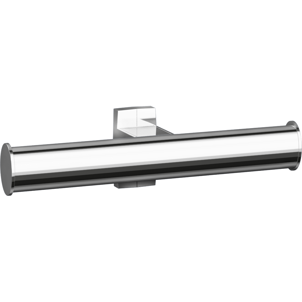 Toilet roll holder, 265 x 69 x 67,5 mm, Bright Anodized Aluminium, tube 38 x 25 mm