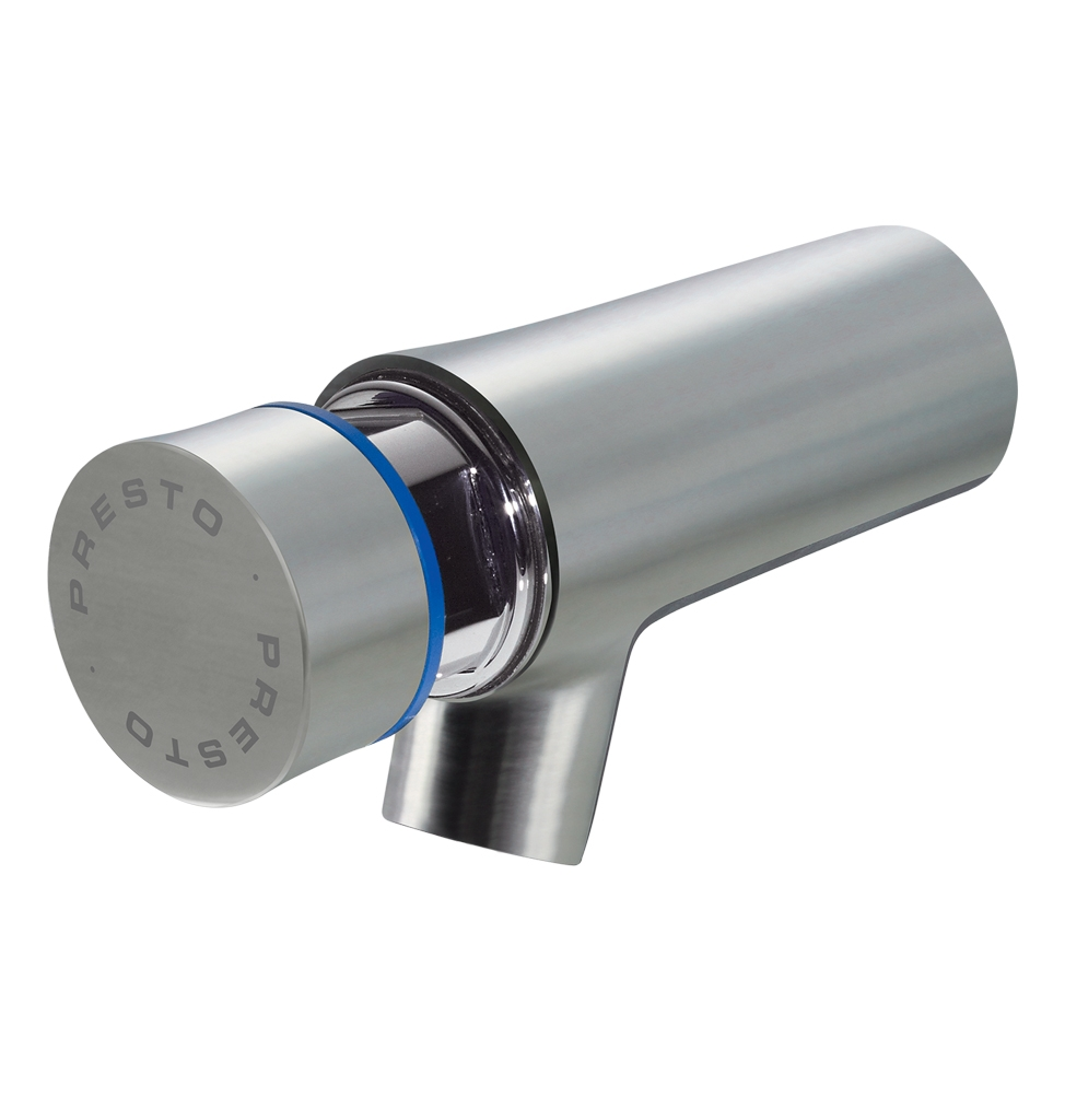 66030 PRESTO WALL MOUNTED TAP NEO STAINLESS STEEL COLD 65MM 7SEC