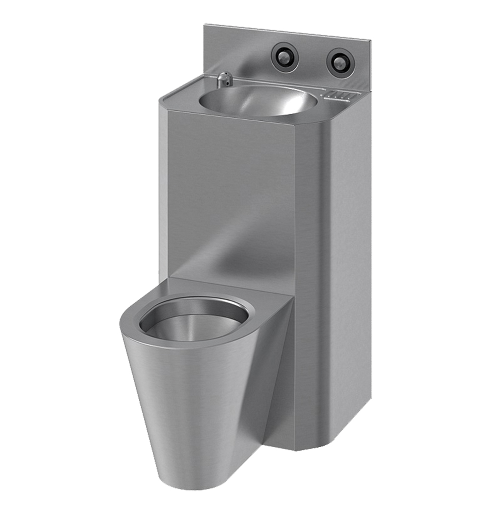 71712 - Combination unit Washbasin and central WC - Rear Installation LVL0