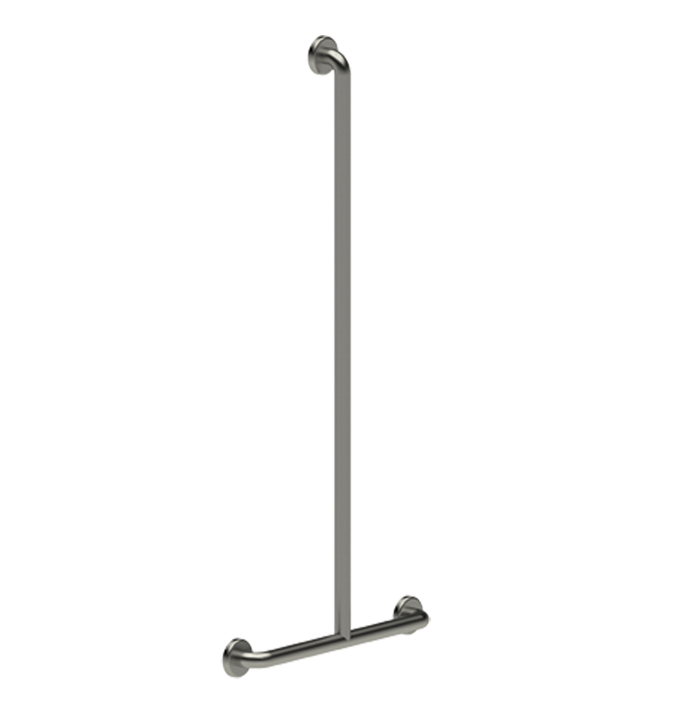 60333 PRESTO T-SHAPED BAR FOR SHOWER Ø32-STEEL CHROME LVL0
