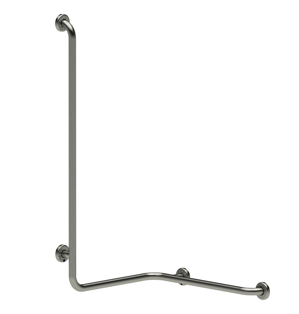 60331 PRESTO ANGLE BAR FOR SHOWER Ø32-LEFT-STEEL CHROME LVL0