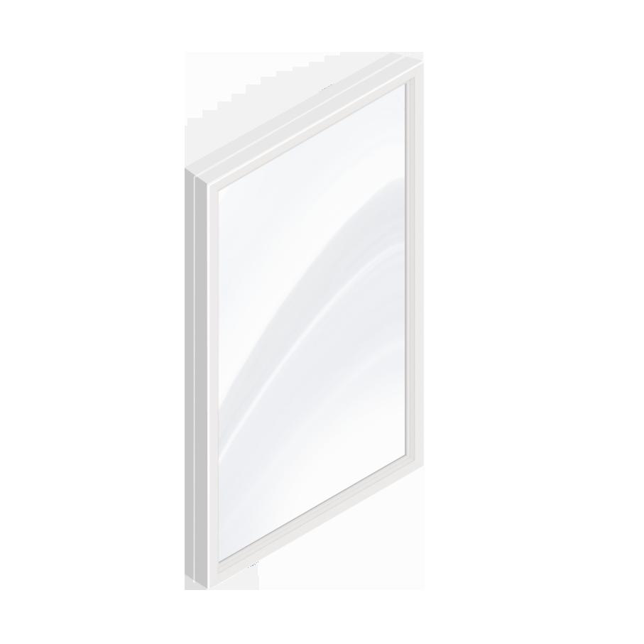 CAD- und BIM-Objekte - Feststehendes Fenster - PVC-Doppelverglasung ...