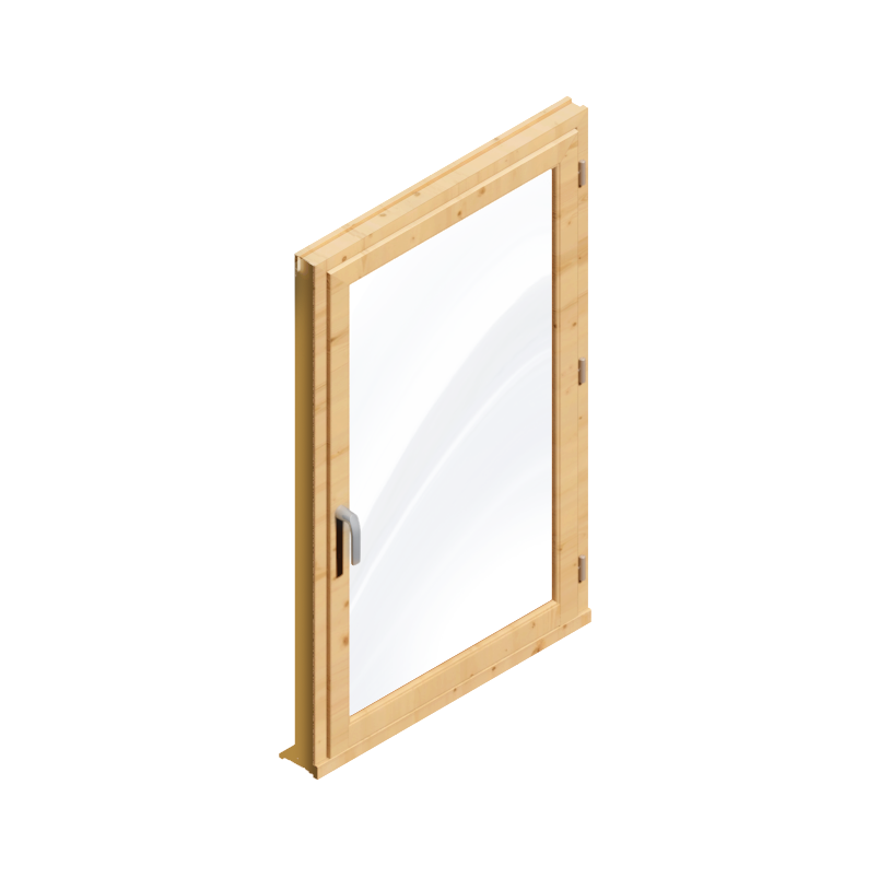 objets bim et cao fenetre 1 vantail menuiserie bois double vitrage generic object. Black Bedroom Furniture Sets. Home Design Ideas
