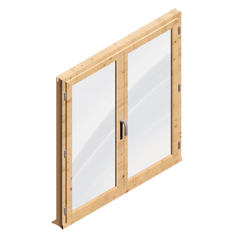 Window 2 Doors (Wood)