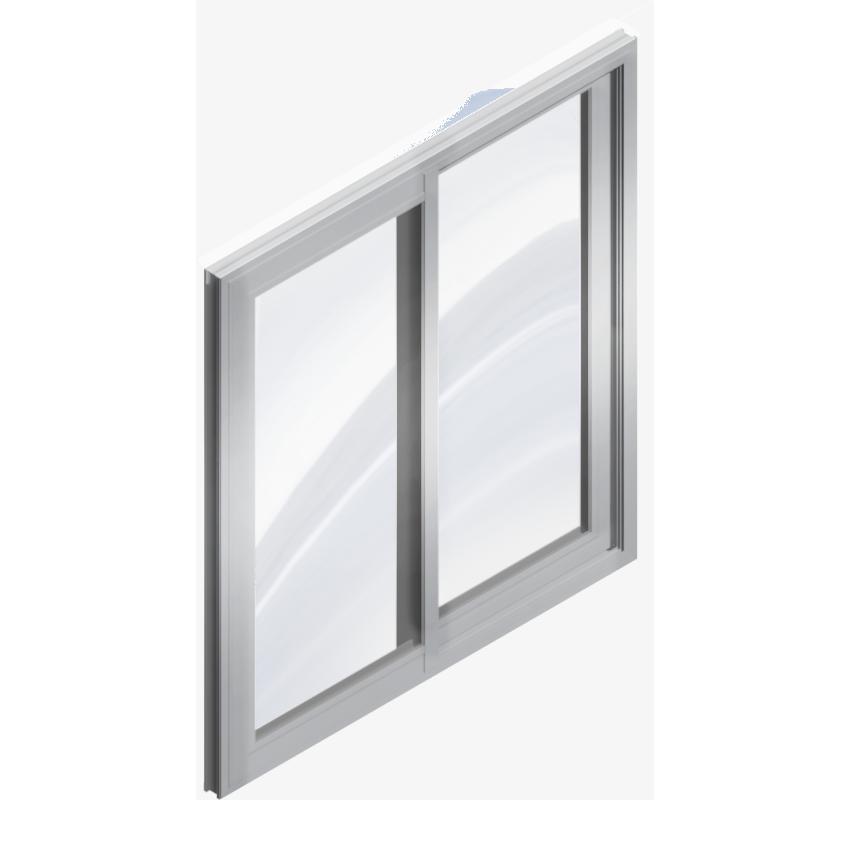 Objeto bim y cad finestra scorrevole con 2 ante - Finestre doppi vetri ...
