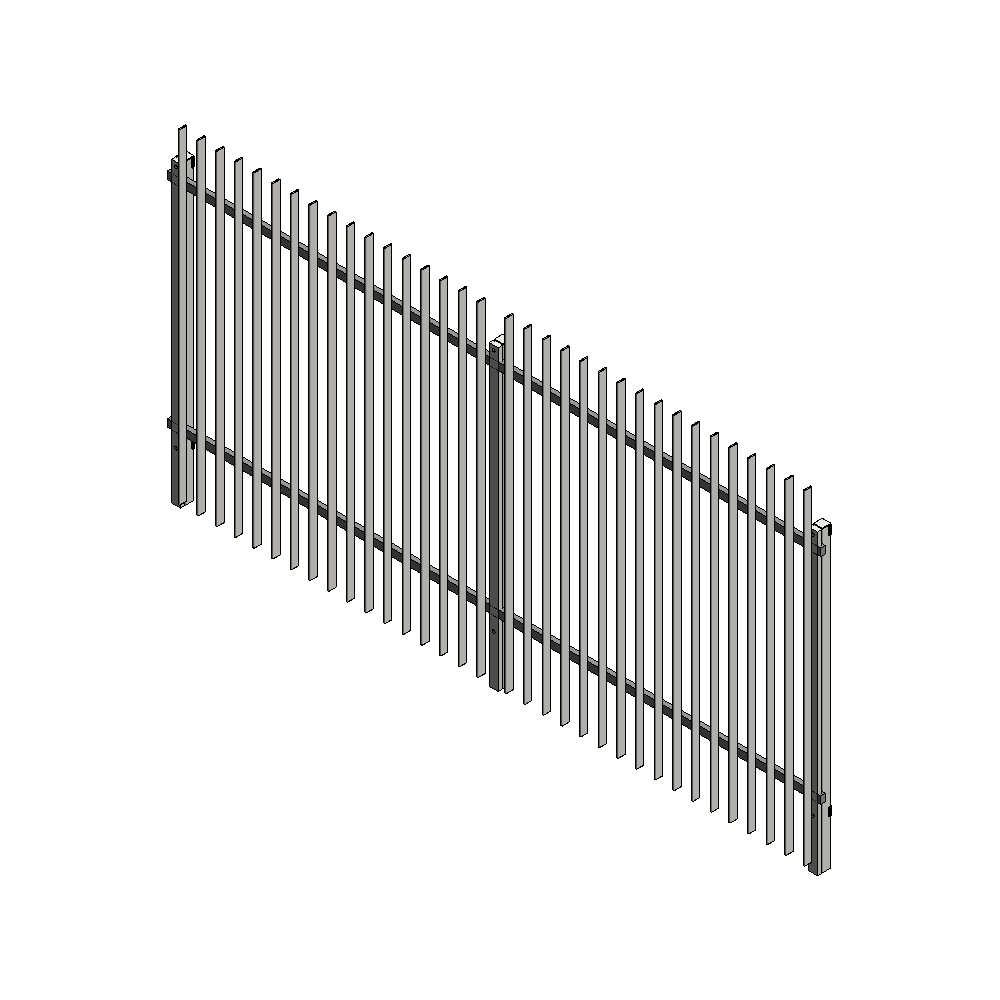5010 railing system  3D View