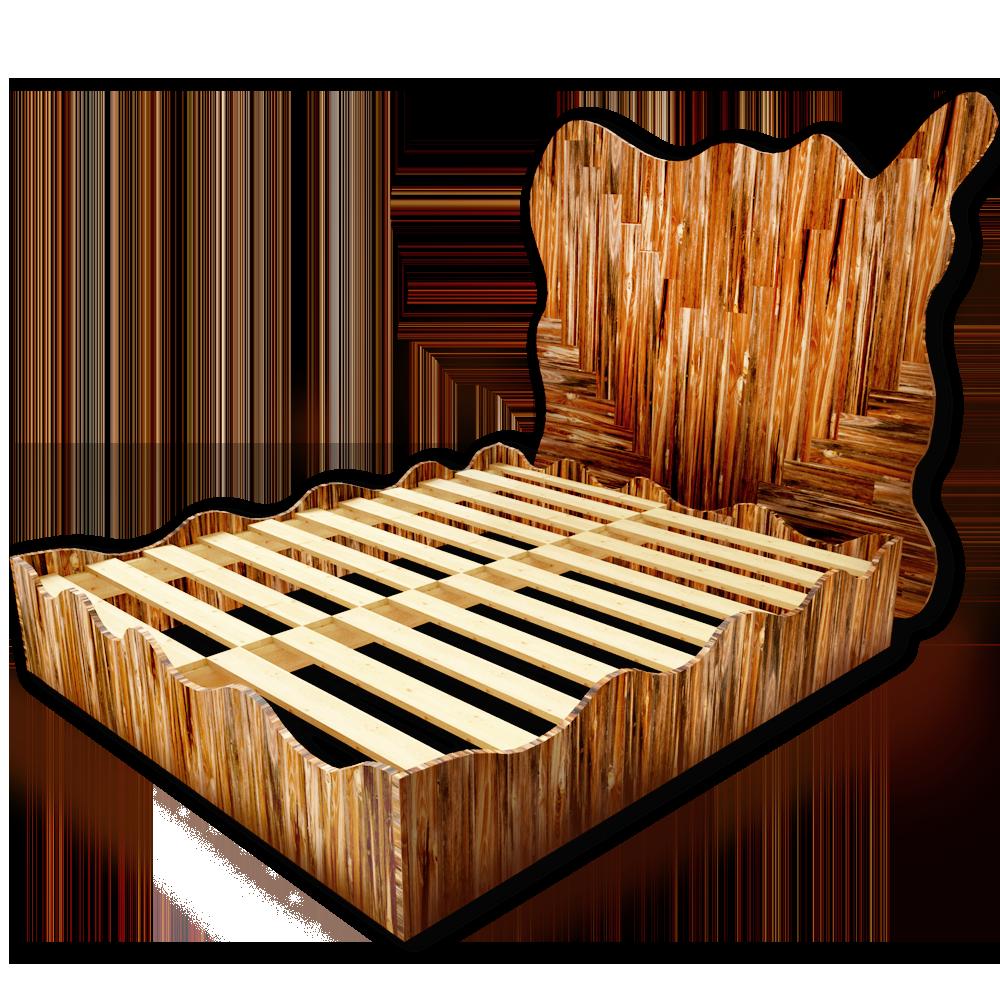 Palette Wood Big Bed